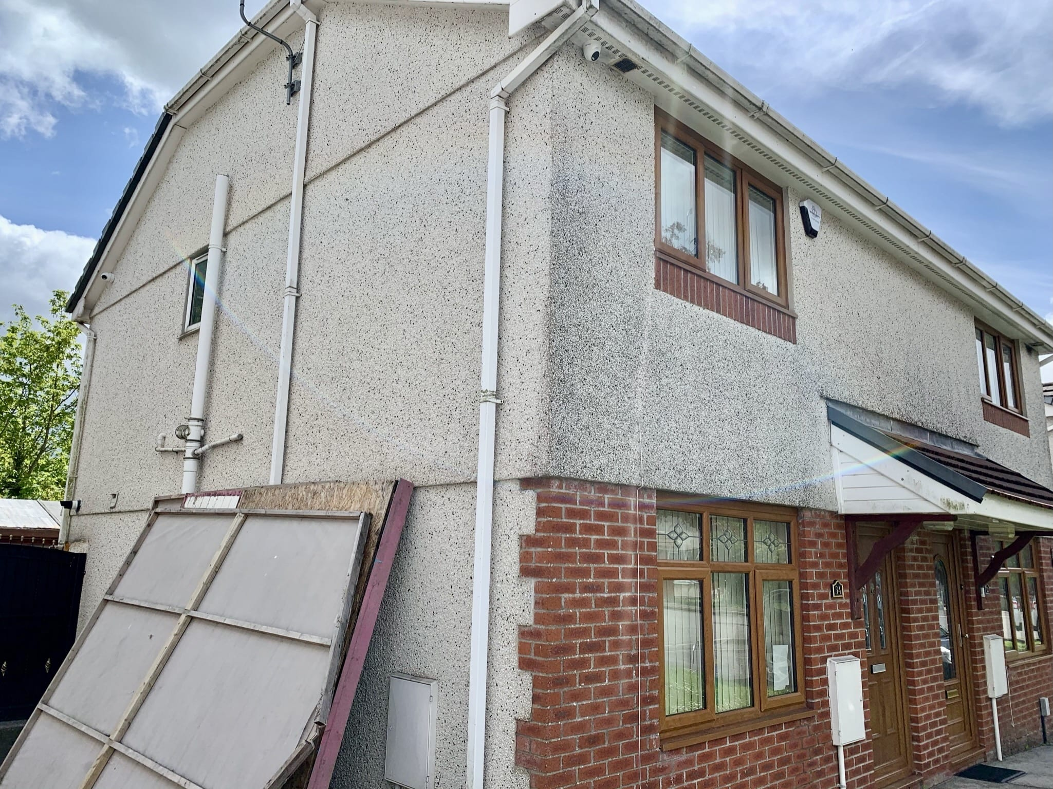 CCTV and alarm on house