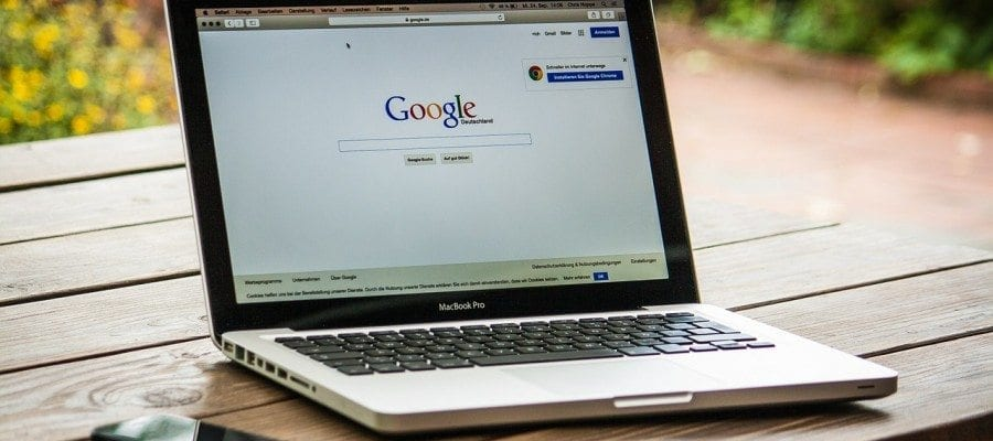 Macbook with Google search